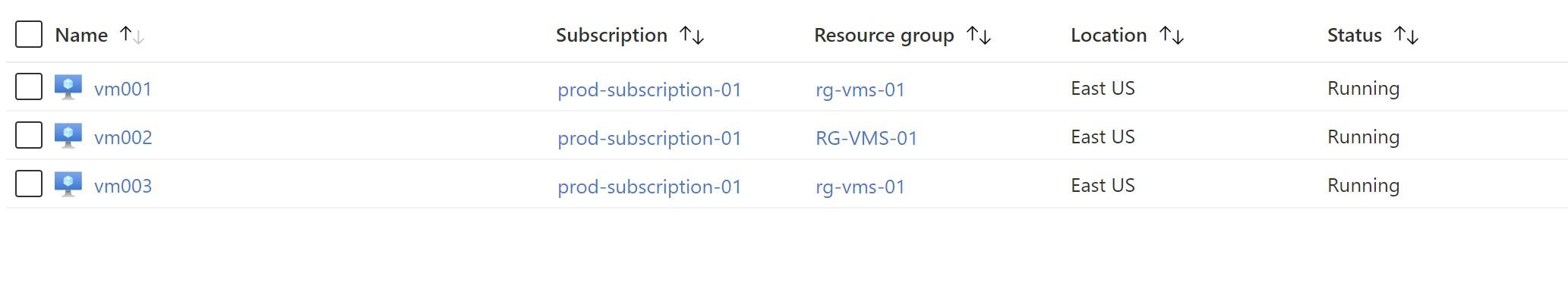 Start VMs